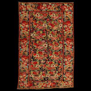 Antico tappeto caucasico Karabagh annodato primi anni '900 datato 1910