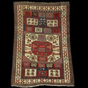 tappeto caucasico Kazak Karaciof antico