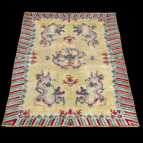 tappeto-cinese-antico-Pechino-a-draghi-seta