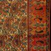 tappeto persiano antico colori naturali Mishin Malayer campo libero fondo chiaro motivo bothé