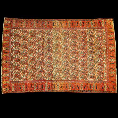 tappeto persiano antico campo libero fondo chiaro bothé colori naturali