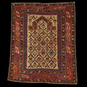 antique caucasian prayer rug DAGHESTAN