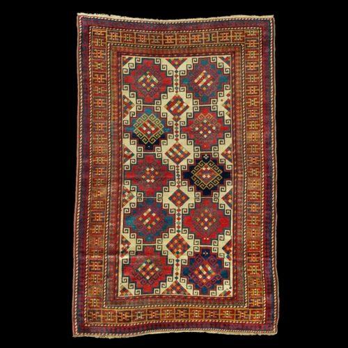 tappeto-caucasico-Kazak-Mogan-antico