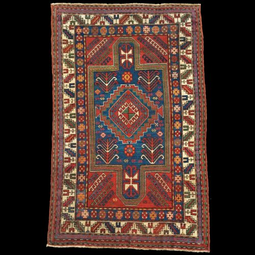 tappeto-antico-caucasico-Kazak-Sewan