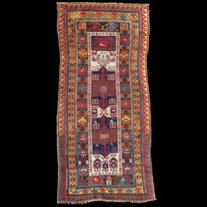 antico-tappeto-caucasico-Kazak-Fachralo