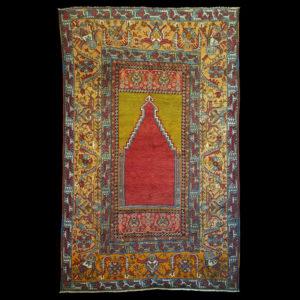 tappeto anatolico antico a preghiera KONYA