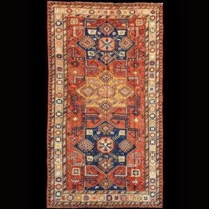 tappeto caucasico antico          SUMAK A STELLE